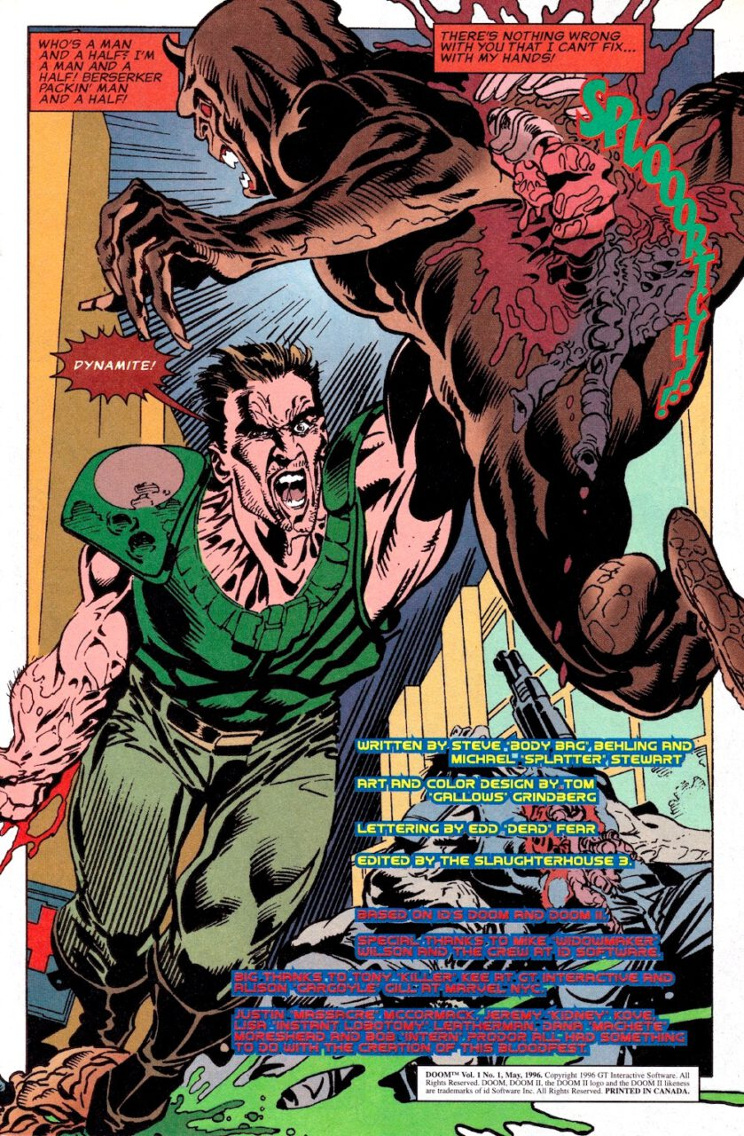 Comic Doom Knee Deep in the Dead Page 1