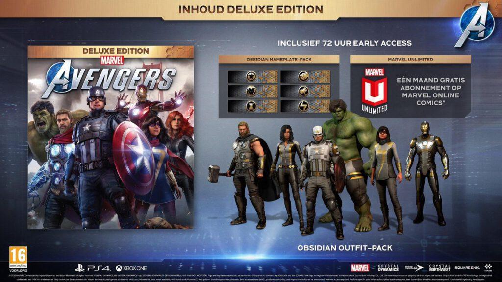 Marvel Avengers Deluxe Edition pre-order