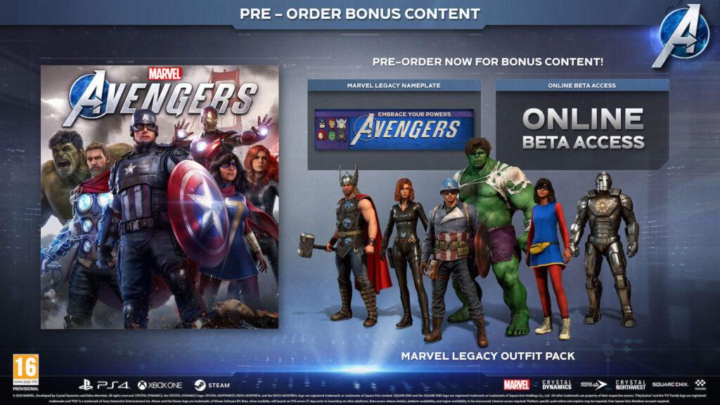 Marvel Avengers standard pre-order